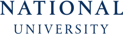 National University's school logo