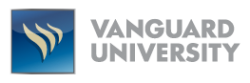 Vanguard University's school logo