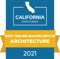 CaliforniaOnlineColleges.com's 2021 Best Online Bachelor's in Architecture in California Badge