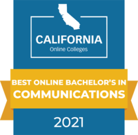 CaliforniaOnlineColleges.com's 2021 Best Online Bachelor's in Communications in California Badge