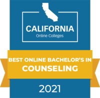 CaliforniaOnlineColleges.com's 2021 Best Online Bachelor's in Counseling in California Badge