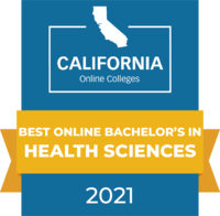 CaliforniaOnlineColleges.com's 2021 Best Online Bachelor's in Health Sciences in California Badge