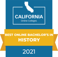 CaliforniaOnlineColleges.com's 2021 Best Online Bachelor's in History in California Badge