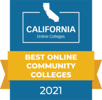 CaliforniaOnlineColleges.com's 2021 Best Online Community Colleges in California Badge
