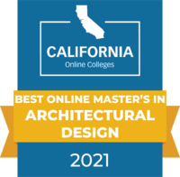 CaliforniaOnlineColleges.com's 2021 Best Online Master's in Architectural Design in California Badge