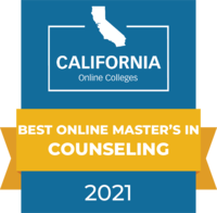CaliforniaOnlineColleges.com's 2021 Best Online Master's in Counseling in California Badge