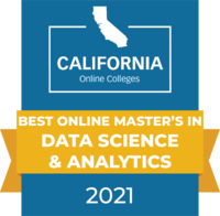 CaliforniaOnlineColleges.com's 2021 Best Online Master's in Data Science and Analytics in California Badge