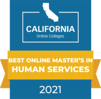 CaliforniaOnlineColleges.com's 2021 Best Online Master's in Human Services in California Badge
