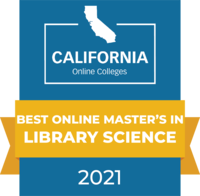 CaliforniaOnlineColleges.com's 2021 Best Online Master's in Library Science in California Badge