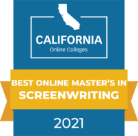 CaliforniaOnlineColleges.com's 2021 Best Online Master's in Screenwriting in California Badge