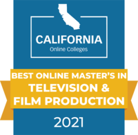 CaliforniaOnlineColleges.com's 2021 Best Online Master's in Television & Film Production in California Badge