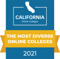 CaliforniaOnlineColleges.com's 2021 Most Diverse Online Colleges in California Badge